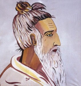 An artist's rendition of Lalon Fakir