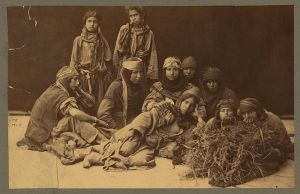 Bedouin women in Palestine, 1880