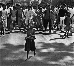 A child protesting in 1971