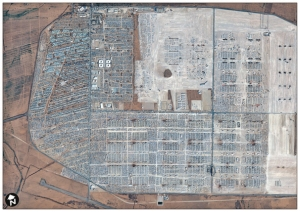 Satellite image of Zaatari Camp (copyright DigitalGlobe)