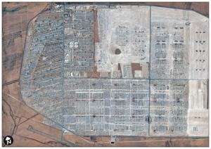 Satellite image of Zaatari Camp (copyright DigitalGlobe)