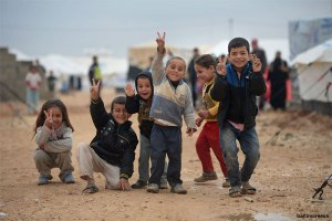 Palestinian children at Refugee camp in Syria